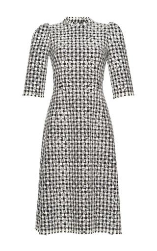 Medium dolce gabbana multi houndstooth check tweed dress