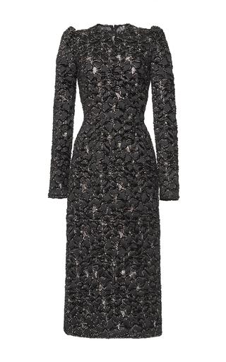 Medium dolce gabbana black 3d metallic jacquard dress