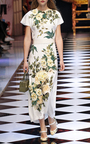 Short Sleeve Floral Print Dress by DOLCE & GABBANA Now Available on Moda Operandi