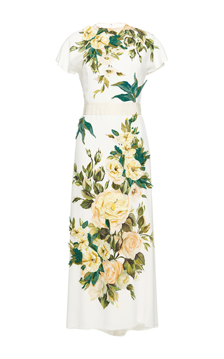 Medium dolce gabbana floral placed floral print deconstructed dress