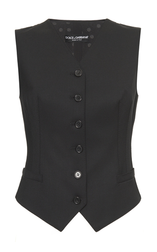 Medium dolce gabbana black tailored gilet