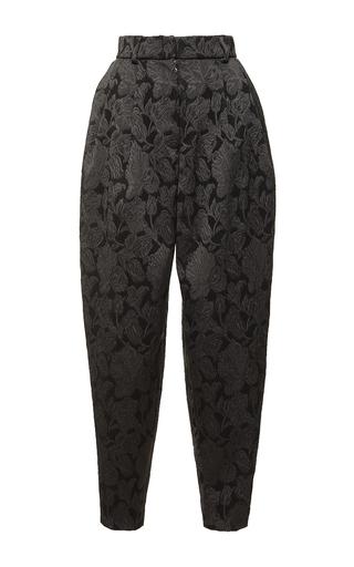 Medium dolce gabbana black high waist pleated brocade pant