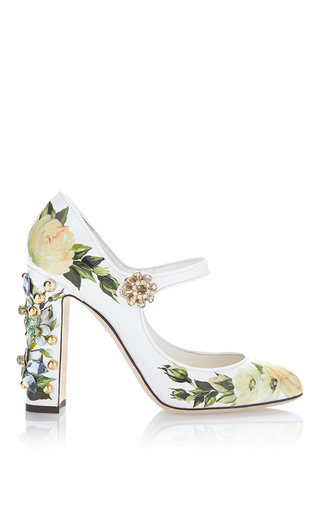 Floral Mary Jane Pump by DOLCE & GABBANA Now Available on Moda Operandi