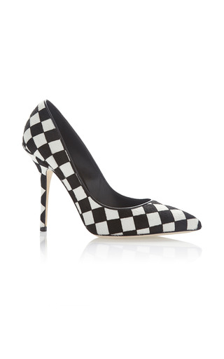 Medium dolce gabbana black white black white stamped pony hair pump