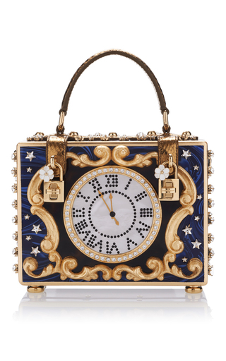 Medium dolce gabbana royal blue enchanted clock box bag