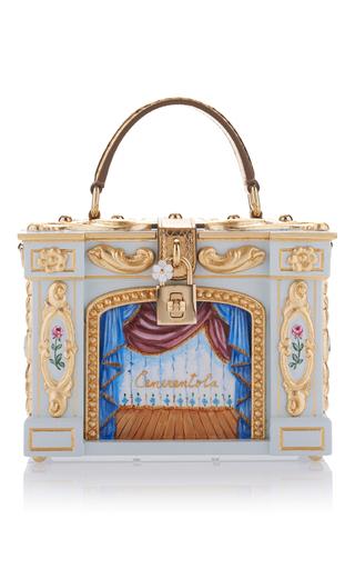 Medium dolce gabbana light blue cinderella opera box bag