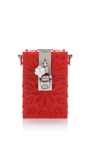 Medium dolce gabbana red floral engraved mobile case