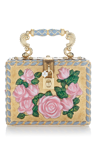 Medium dolce gabbana multi flower motif box bag
