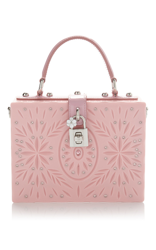 Medium dolce gabbana pink floral engraved box bag