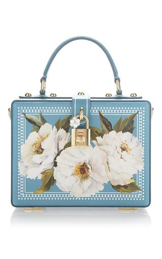 Medium dolce gabbana turquoise peonies box bag