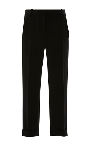 Medium carven black slim cuffed trouser