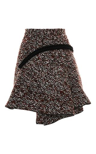 Medium carven burgundy tweed curved flare skirt