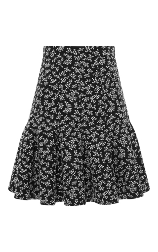 Medium carven floral floral fit and flare skirt