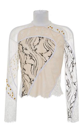 Medium carven white contour lace turtleneck top