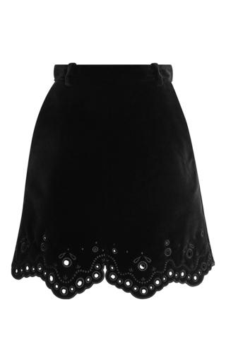 Medium carven black velvet eyelet skirt