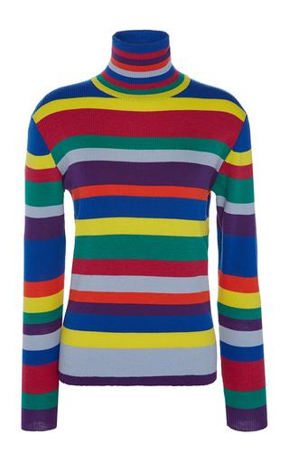 Medium mira mikati multi rainbow striped merino turtleneck