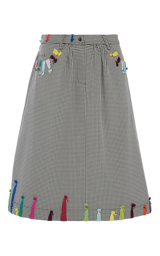 Medium mira mikati black multi stitch skirt