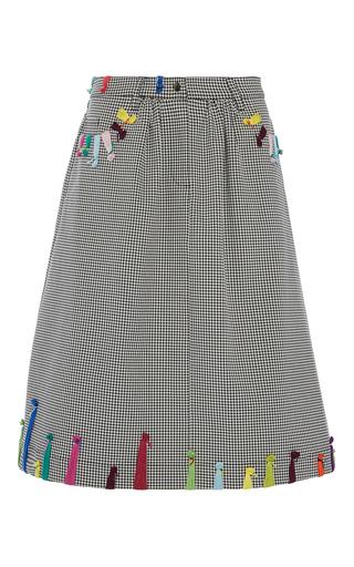 Medium mira mikati black multi stitch skirt
