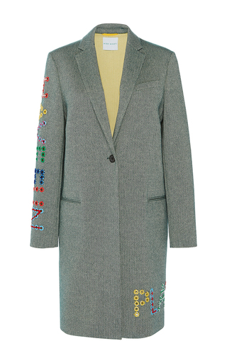 Medium mira mikati dark grey eyelet play coat
