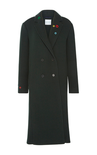 Medium mira mikati dark green eyelet smile coat