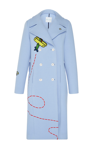Medium mira mikati light blue fly away rocket coat