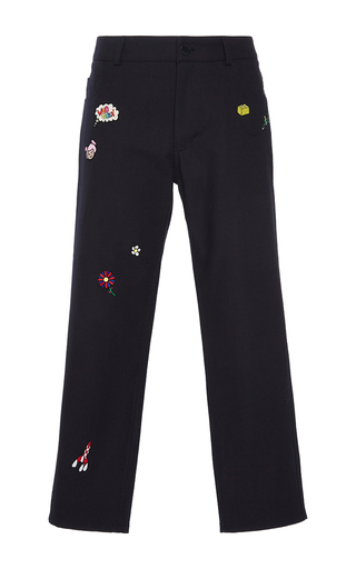 Medium mira mikati navy patched pants