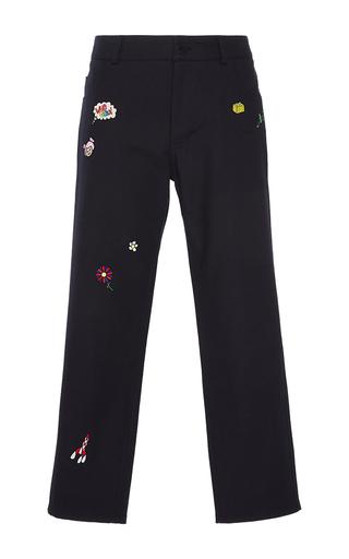 Medium mira mikati navy patched pants