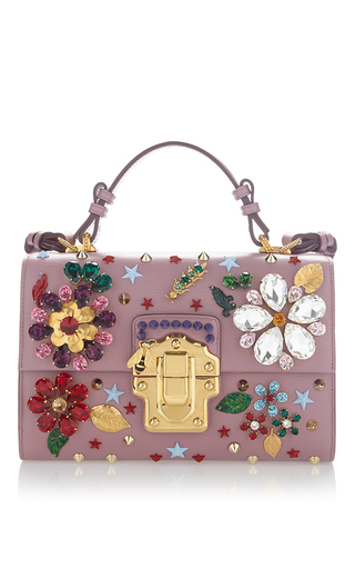 Medium dolce gabbana pink flower motif bag