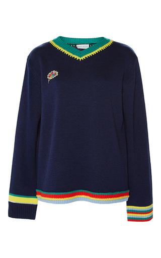 Medium mira mikati navy who cares sweater