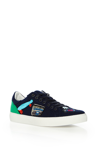 Medium mira mikati multi spray can patched sneakers