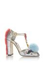 Glitter & Pompom Mary Jane by DOLCE & GABBANA Now Available on Moda Operandi