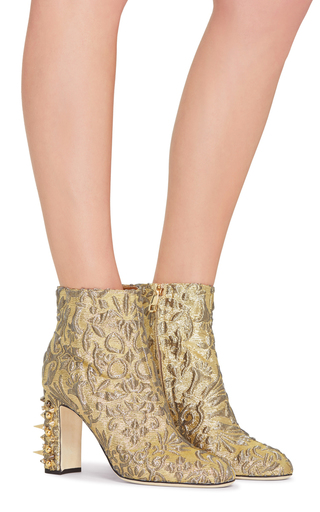 Jacquard Lurex Boot by DOLCE & GABBANA Now Available on Moda Operandi