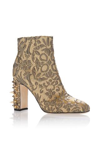 Medium dolce gabbana gold jacquard lurex boot
