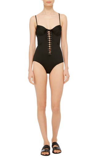 Lacing Bullet One Piece Swimsuit by FLEUR DU MAL Now Available on Moda Operandi