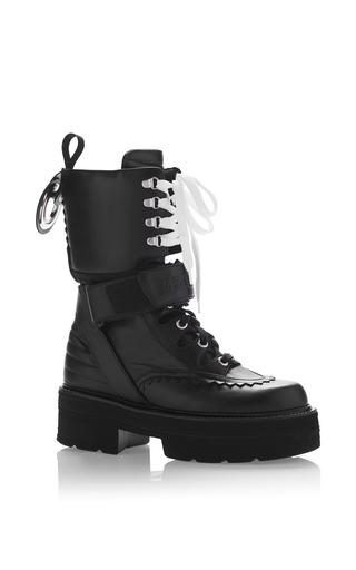 Medium msgm black goth boxing boot