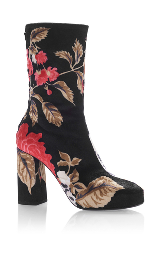Medium msgm black floral bootie
