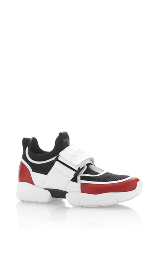 Medium msgm white strap sneaker