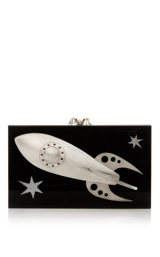 Medium charlotte olympia black outerspace pandora clutch