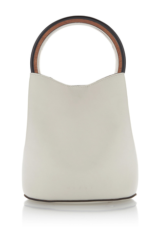 Medium marni white top handle bag