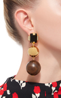 Wood Earrings by MARNI Now Available on Moda Operandi