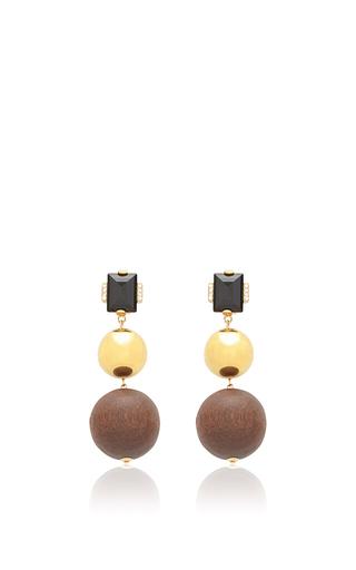 Medium marni multi wood earrings
