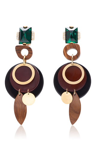 Medium marni multi wood earrings  2