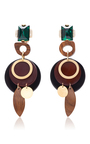 Wood Drop Earrings by MARNI Now Available on Moda Operandi
