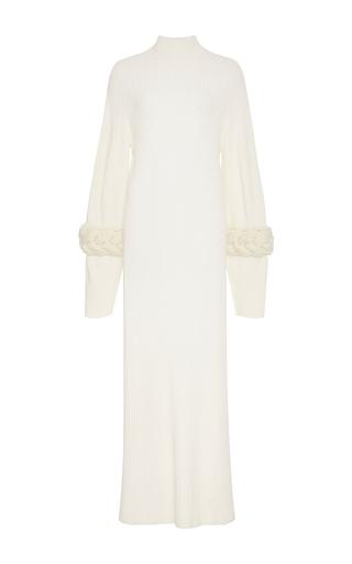 Medium adeam white cableknit turtleneck dress