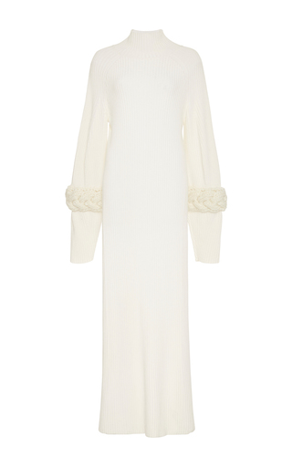 Medium adeam white cableknit turtleneck dress