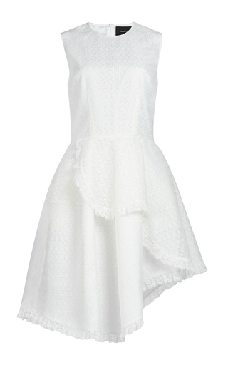 Medium simone rocha white ruffle mini dress