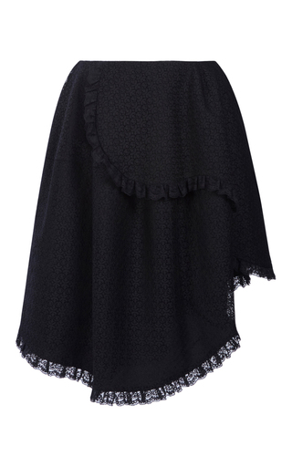Medium simone rocha black layered mini skirt