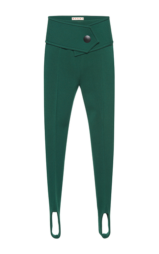 Medium marni green stirrup trousers