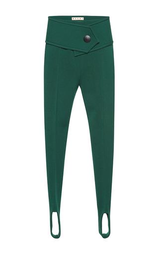 Medium marni green stirrup trousers