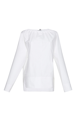 Medium marni white long sleeve crewneck blouse
